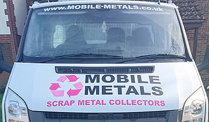 mobile metals collection vehicle portsmouth, fareham and gosport